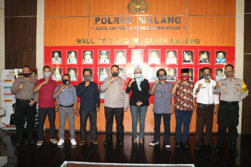 Koordinasi Dengan Kapolres Malang Akbp Hendri Umar S I K M H Berita Kpu Kabupaten Malang