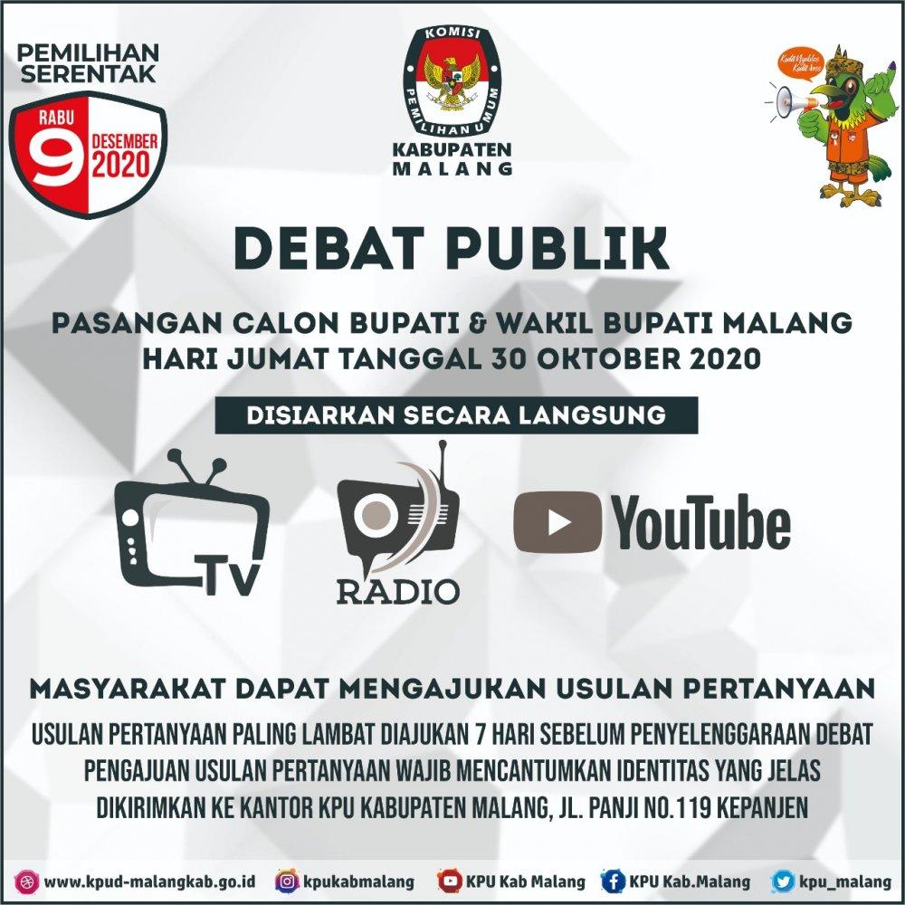 Tentang Debat Publik Atau Debat Terbuka Antar Pasangan Calon Dalam Pemilihan Tahun 2020 Berita Kpu Kabupaten Malang